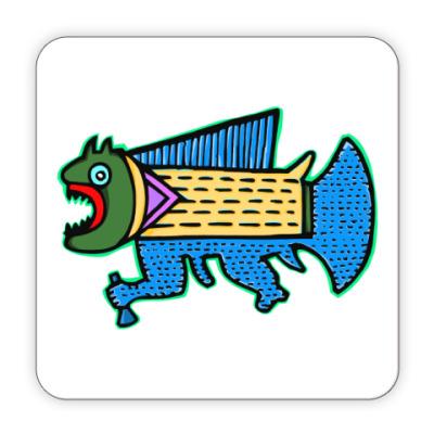 Костер (подставка под кружку) 'Рыбка'