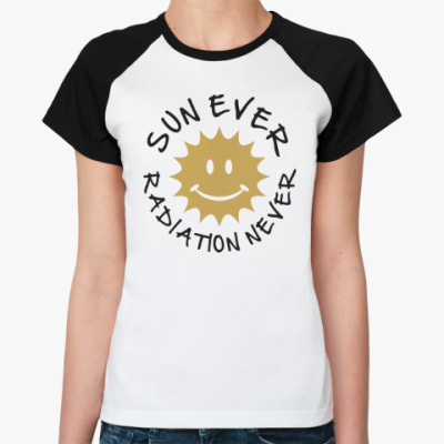 Женская футболка реглан Солнце всегда