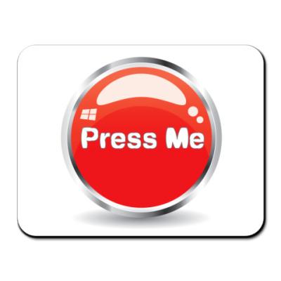 Коврик для мыши Press me