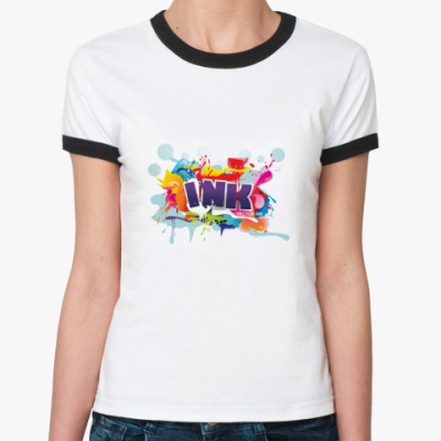 Женская футболка Ringer-T   Ink