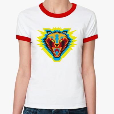 Женская футболка Ringer-T  Жен. Киска