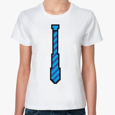 Классическая футболка 8-битный галстук
