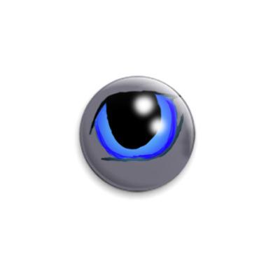 Значок 25мм  'Кошачий глаз'