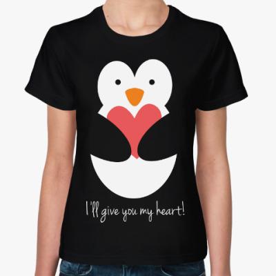 Женская футболка Пингвин