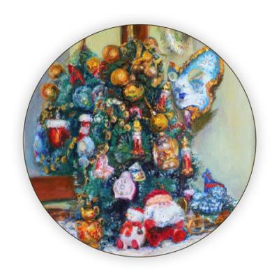 Костер (подставка под кружку) 'Новогоднее чудо'