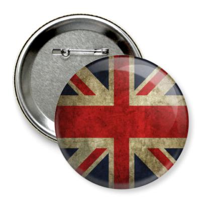 Значок 75мм Англия Значок от Алекс