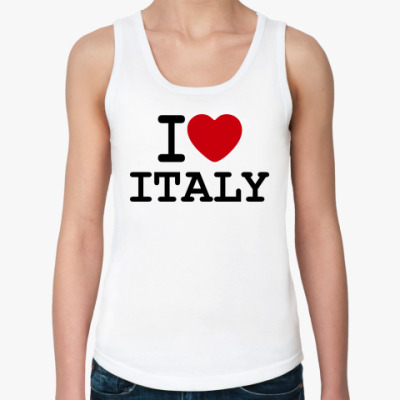 Женская майка  I Love Italy