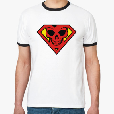 Футболка Ringer-T Skull Superman