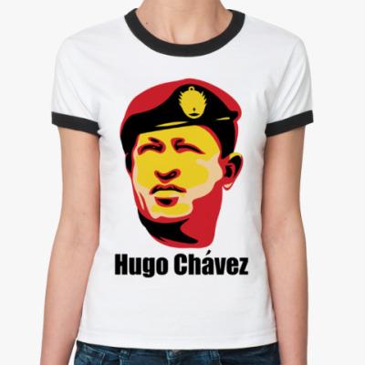 Женская футболка Ringer-T Уго Чавес