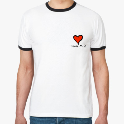 Футболка Ringer-T «Сердце»