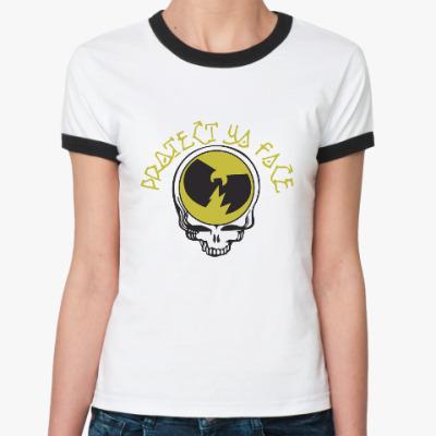 Женская футболка Ringer-T Protect Ya Face