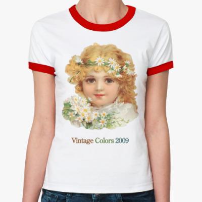 Женская футболка Ringer-T  Vintage Colors 2009