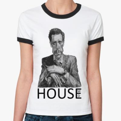 Женская футболка Ringer-T House pencil