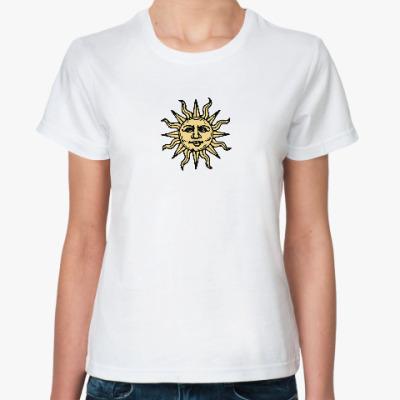 Классическая футболка Солнце в этническом стиле