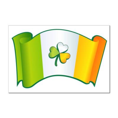 Наклейка (стикер) Флаг Ирландии