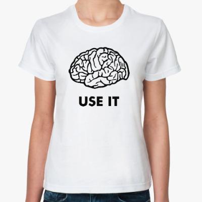 Классическая футболка Мозг
