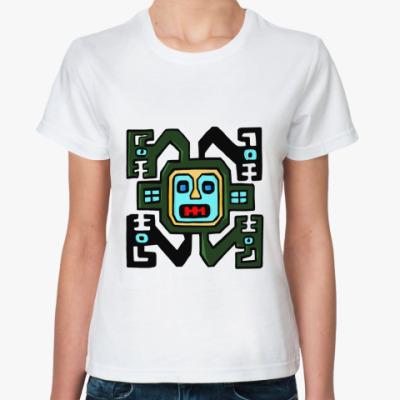 Классическая футболка  'Квадратная рожа'