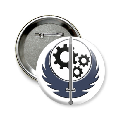Значок 58мм Fallout: Эмблема Братства Стали