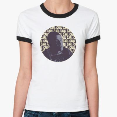 Женская футболка Ringer-T Карл Shameless (Бесстыжие)