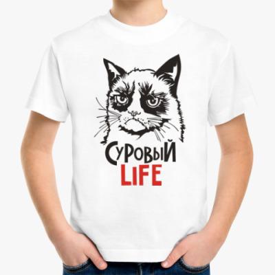 Детская футболка Злой и сердитый кот. Angry cat