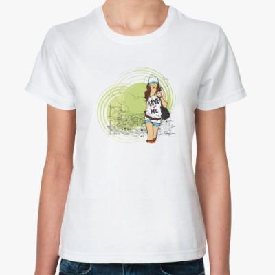 Классическая футболка  fashion girl