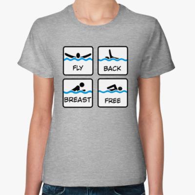Женская футболка Стили плавания