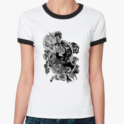 Женская футболка Ringer-T Протоплазма