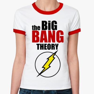 Женская футболка Ringer-T Теория Большого Взрыва