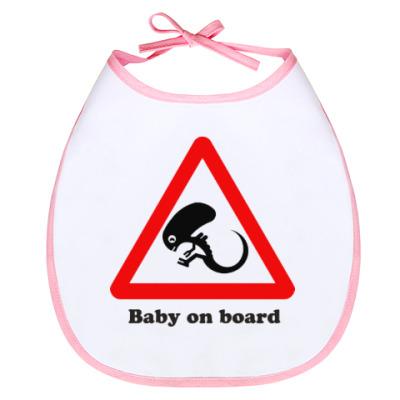 Слюнявчик Ребенок на борту