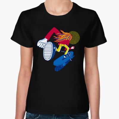 Женская футболка Скейт