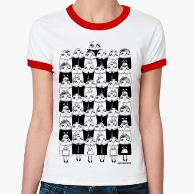 Женская футболка Ringer-T   ВМЕТРО