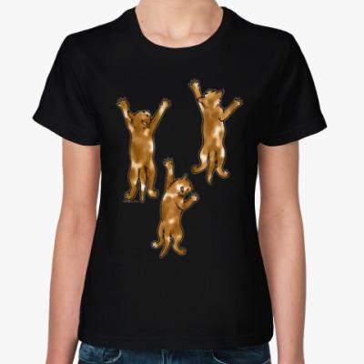 Женская футболка Разноцветные котята