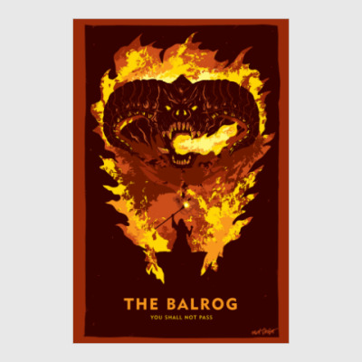 Постер The Lord of the Rings - The Balrog