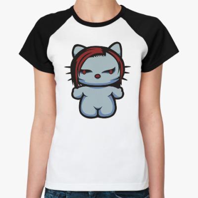 Женская футболка реглан Китти Мэрилин Мэнсон