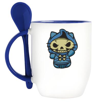 Кружка с ложкой Kitty Скелетор