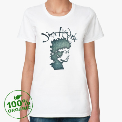 Женская футболка из органик-хлопка Jimi Hendrix