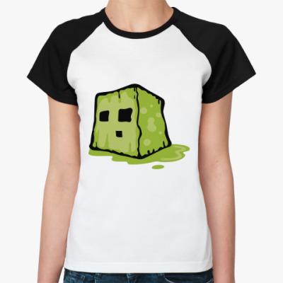 Женская футболка реглан  Slime