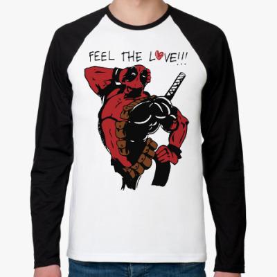Футболка реглан с длинным рукавом Deadpool