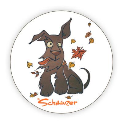 Костер (подставка под кружку) Осенний шнауцер
