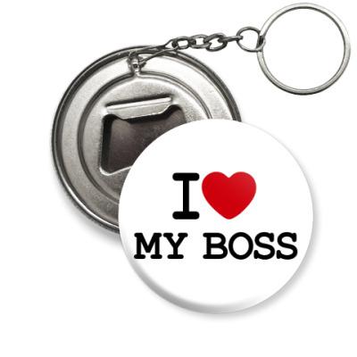 Брелок-открывашка  Love My Boss