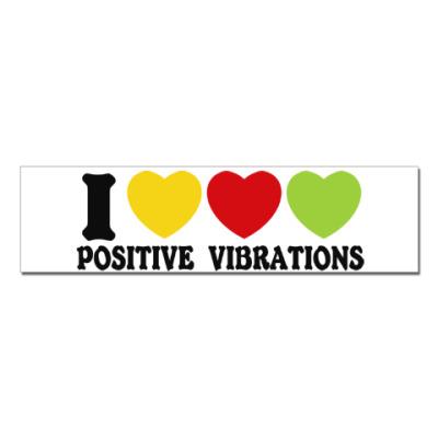 Наклейка (стикер) Люблю позитивные вибрации