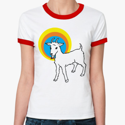 Женская футболка Ringer-T Год козы
