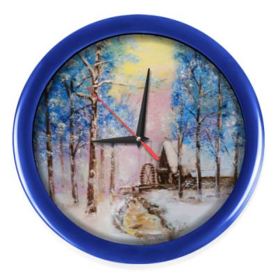 Настенные часы 'Зимняя сказка'