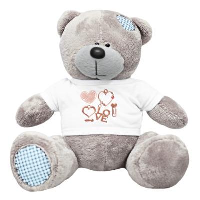Плюшевый мишка Тедди Любовь