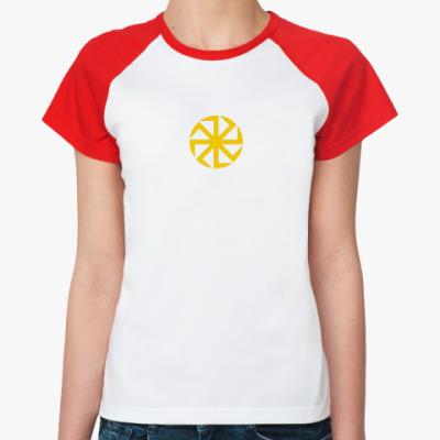 Женская футболка реглан Солнцеворот