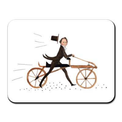 Коврик для мыши велосипед