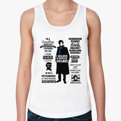 Женская майка Sherlock Holmes  (TV series)