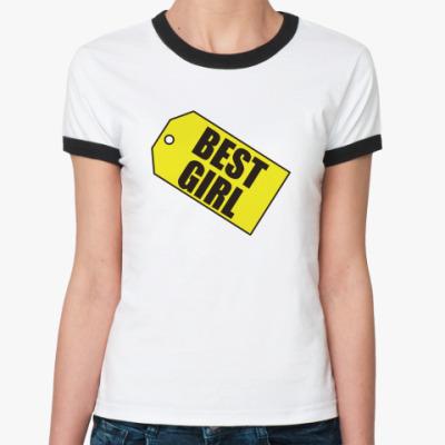 Женская футболка Ringer-T    Best Girl