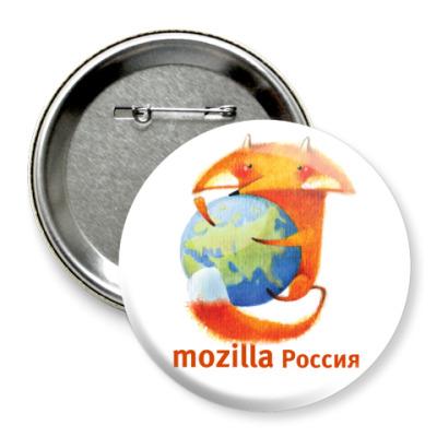 Значок 75мм  Mozilla.Россия