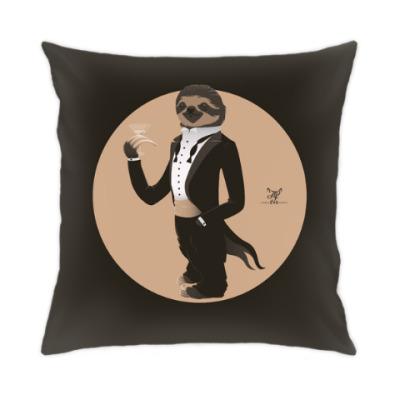 Подушка Animal Fashion: S is for Sloth in Smoking